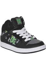 DC Negro /Gris de Niño modelo REBOUND SE B Skate Hombre Niños Zapatillas Calzado Deportivo