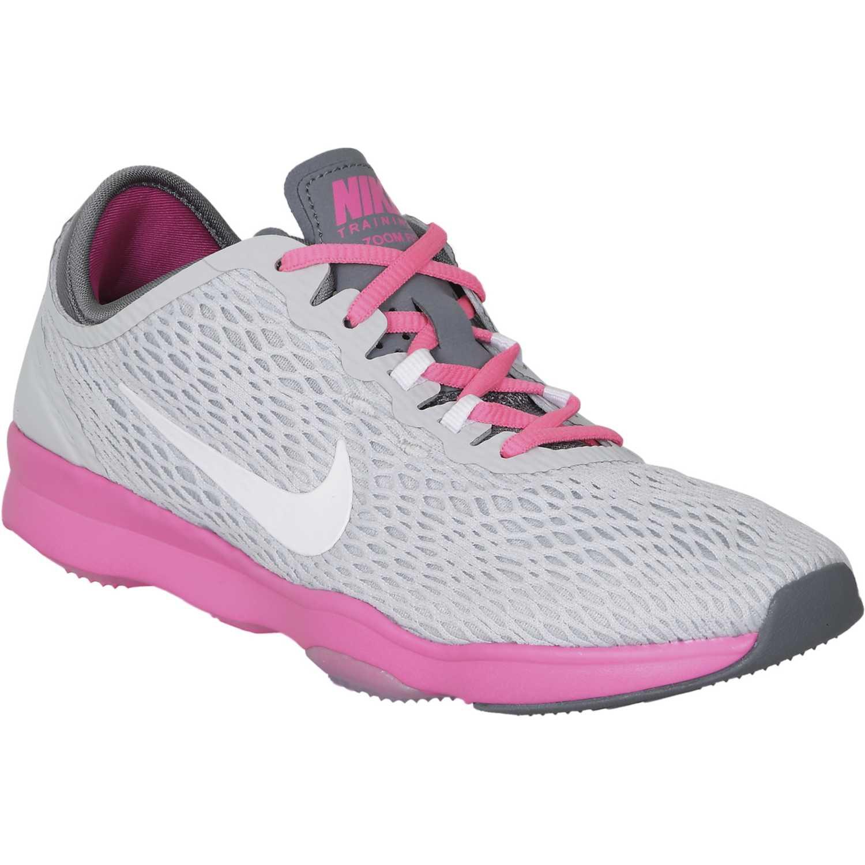 Zapatilla de Mujer Nike Gris / rosado zoom fit w