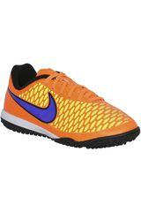 Nike Anaranjado de Jovencito modelo MAGISTA TF JR Fútbol Deportivo Zapatillas