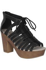 Sandalia de Mujer Platanitos Negro SPT LORNA23