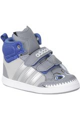 Zapatilla de Niño adidas NEO HOOPS ANIMAL MD Gris / Blanco