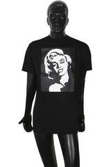 Jimis Negro de Hombre modelo MARILYN MONROE Casual Polos Tee Hombre Ropa