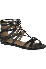 Platanitos Negro de Mujer modelo SF POCAHONTAS8 Casual Flat Sandalias Mujer Calzado