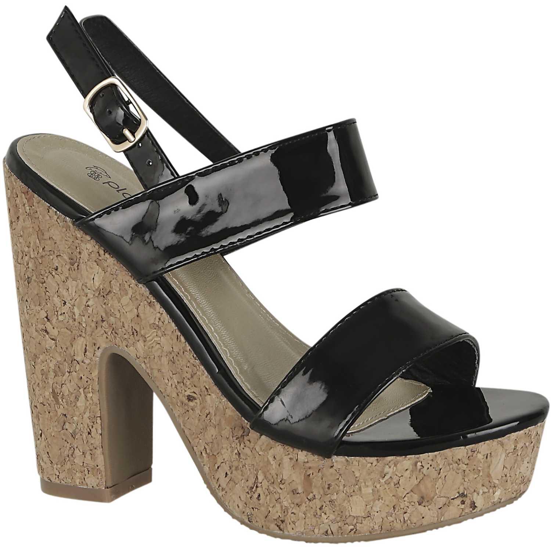 Sandalia de Mujer Platanitos Negro sp 882