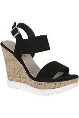 Sandalia de Mujer Platanitos SPW 1103 Negro