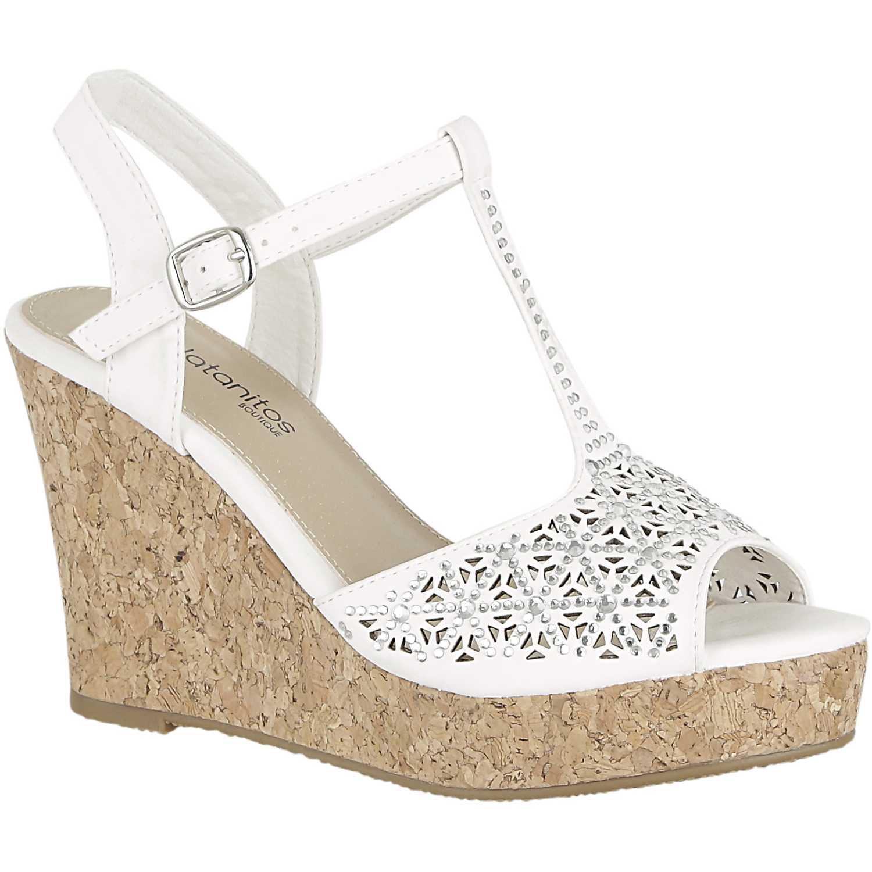 Sandalia de Mujer Platanitos Blanco spw 591