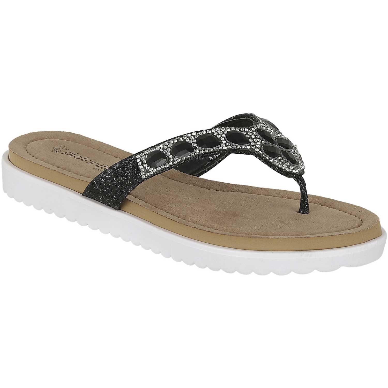 Sandalia de Mujer Platanitos Negro sct perah03