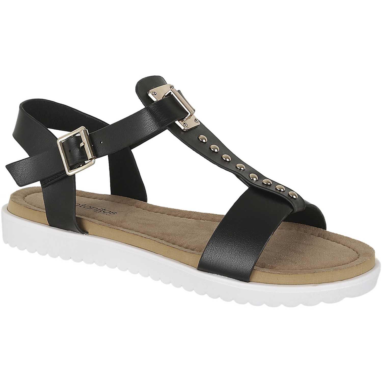 Sandalia de Mujer Platanitos Negro sct perah04