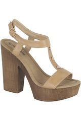 Platanitos Beige de Mujer modelo SP 3355 Casual Cuña Sandalias Mujer Calzado