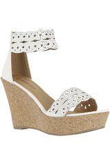 Platanitos Blanco de Mujer modelo SPW3149 Cuña Sandalias Calzado Casual