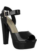 Platanitos Negro de Mujer modelo SP CHLOE04 Plataformas Casual Calzado Zapatos