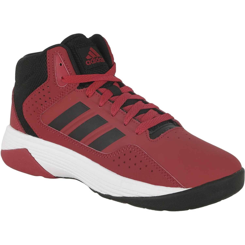 new concept 065d5 ffd30 ... promo code for zapatilla de jovencito adidas neo rojo negro cloudfoam  ilation mid k 8483a e7e2d ...