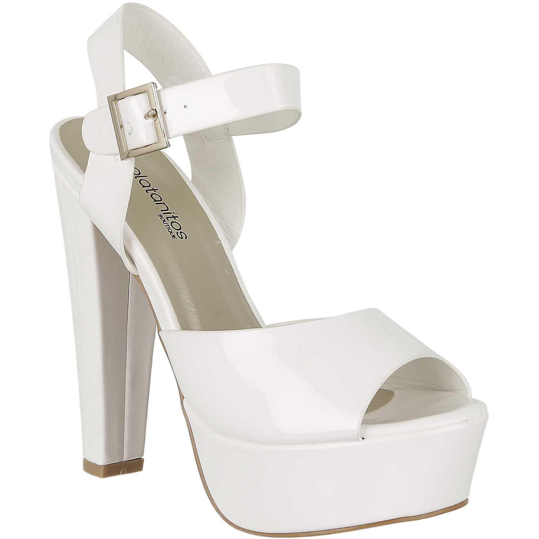 d90a9c4d08e Sandalia Plataforma de Mujer Platanitos Blanco sp chloe04 ...
