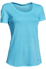 Under Armour Celeste de Mujer modelo CHARGED NLS SS Tops Deportivo Ropa Polos