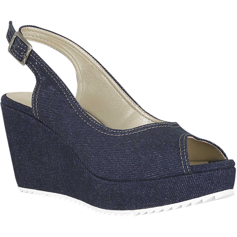 Sandalia Cuña de Mujer Platanitos Azul spw tina6