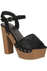 Platanitos Negro de Mujer modelo SP 689 Plataformas Tacos Sandalias Casual