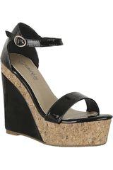 Platanitos Negro de Mujer modelo SPW 584 Sandalias Cuña Plataformas
