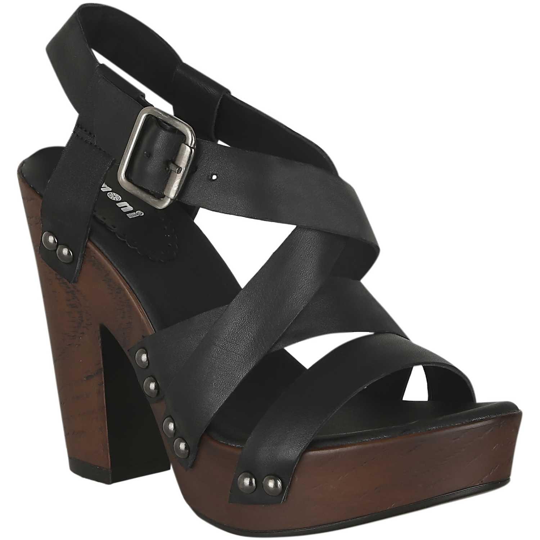 Sandalia Plataforma de Mujer Limoni - Cuero Negro sp briana02