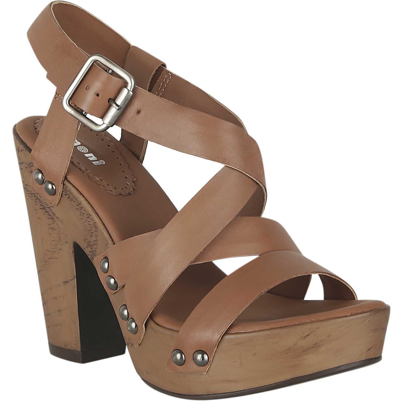 Sandalia Plataforma de Mujer  Limoni - Cuero sp briana02 Camel, Material: Cuero, Color: Camel, Taco: 12 cm, Forro: Cuero, Planta: Sintético, Plantilla: Cuero.