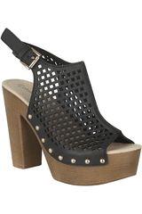 Sandalia Plataforma de Mujer Platanitos SP 3A10 Negro
