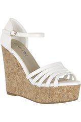 Platanitos Blanco de Mujer modelo SPW 483 Cuña Sandalias Plataformas