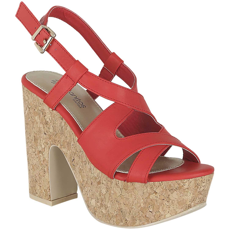 Sandalia Plataforma de Mujer Platanitos Rojo sp 695