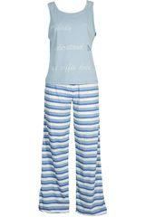 Pijama de Mujer Kayser 70.624 Celeste