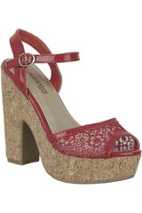 Sandalia Plataforma de Mujer Platanitos SP 884 Rojo