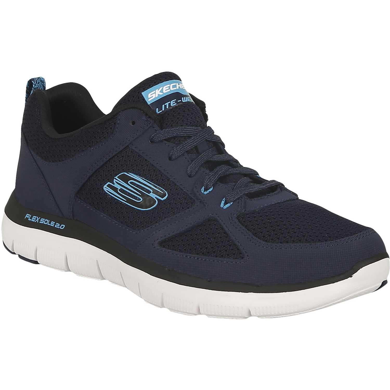 Zapatilla de Hombre Skechers Azul flex advantage 2.0 52180