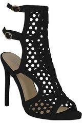 Platanitos Negro de Mujer modelo SP 818 Plataformas Tacos Sandalias Casual