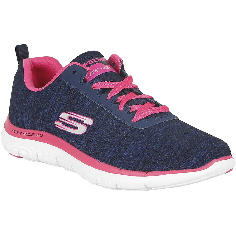 Zapatilla de Mujer Skechers Azul / Rosado flex appeal 2.0 12753