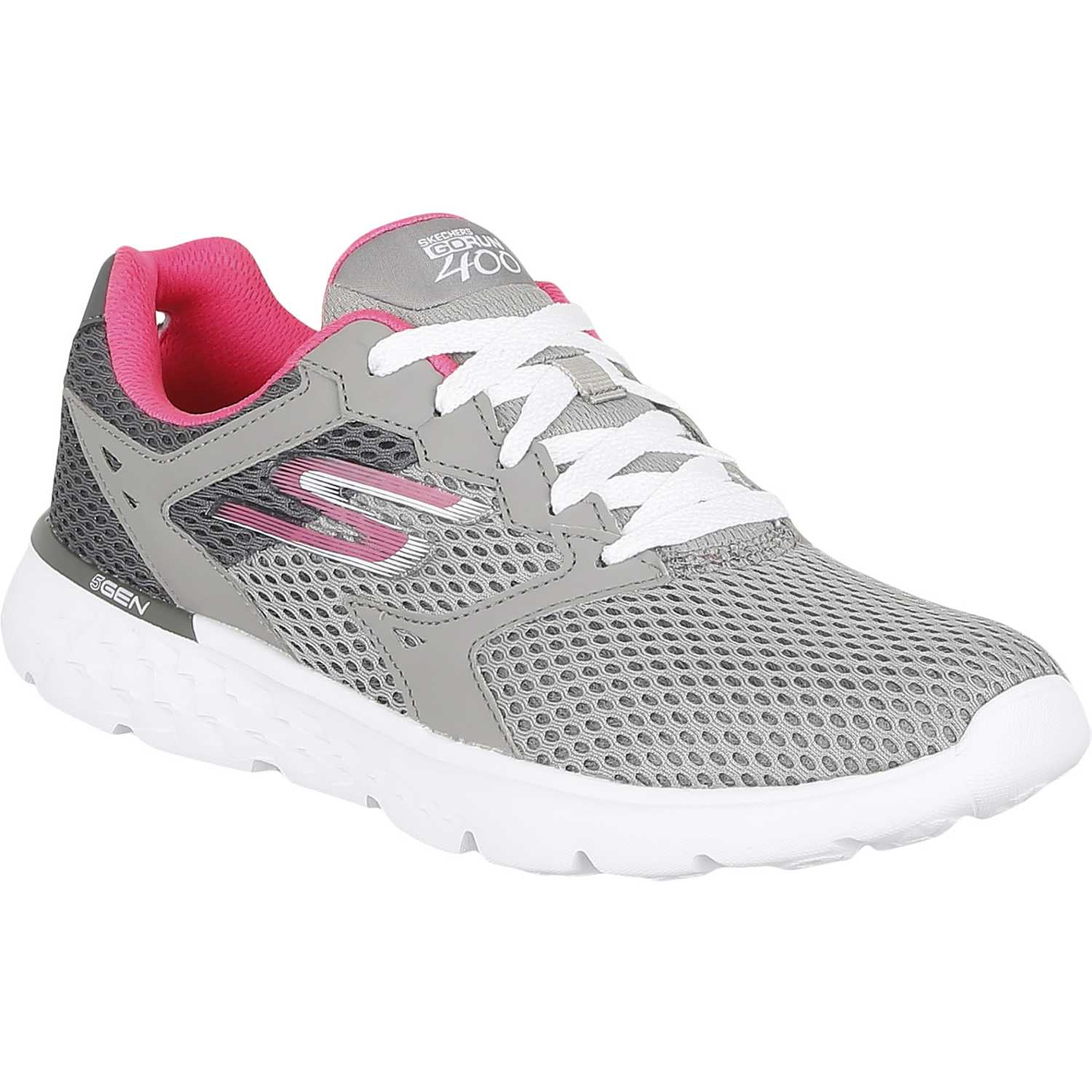 Zapatos grises Skechers Go Run para mujer netKB6FIES