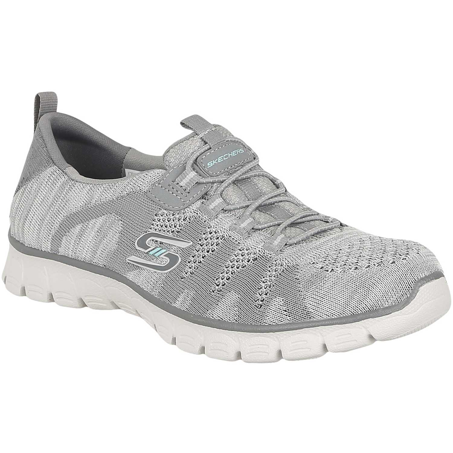 Zapatos grises casual Skechers para mujer 0x51o