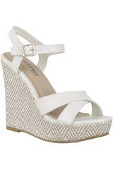 Platanitos Blanco de Mujer modelo SPW 992 Casual Cuña Sandalias Mujer Calzado