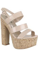 Platanitos Piel de Mujer modelo SP 2573 Calzado Sandalias Casual Cuña