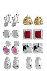 Set de aretes de Mujer REVER SET ARET X8 DORIS 78381 Plateado