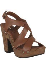 Sandalia Plataforma de Mujer Limoni - CueroSP 521701 Camel