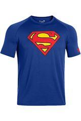 Under Armour Azul de Hombre modelo ALTER EGO CORE SUPERMAN Camisetas Deportivo Polos Walking Hombre Ropa