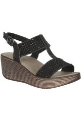 Platanitos Negro de Mujer modelo SCT 1139 Comfort Sandalias