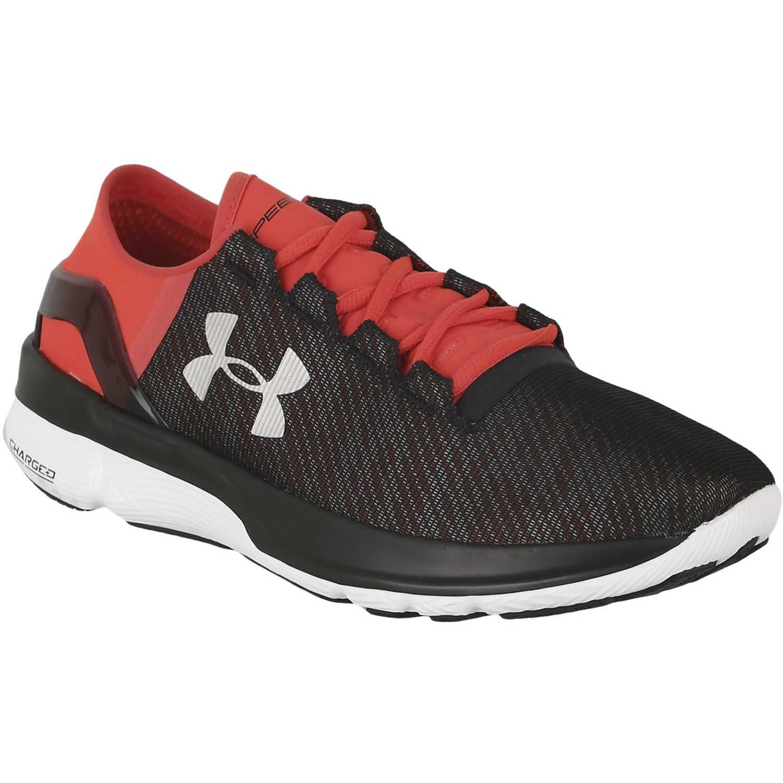 Zapatilla de Hombre Under Armour Negro / Rojo ua speedform apollo 2 rf