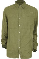 The North Face Olivo de Hombre modelo M L/S TRAVERSE SHIRT Camisas Casual