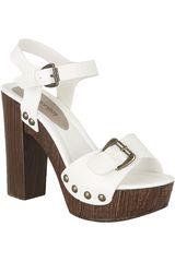 Platanitos Blanco de Mujer modelo SP LACY212 Tacos Sandalias Casual Plataformas