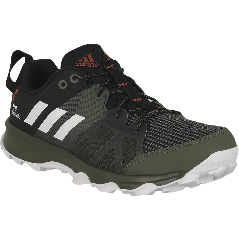 purchase cheap f4bfe b6713 Adidas Kanadia 8 TR zapatillas de running para mujer negro verde claro