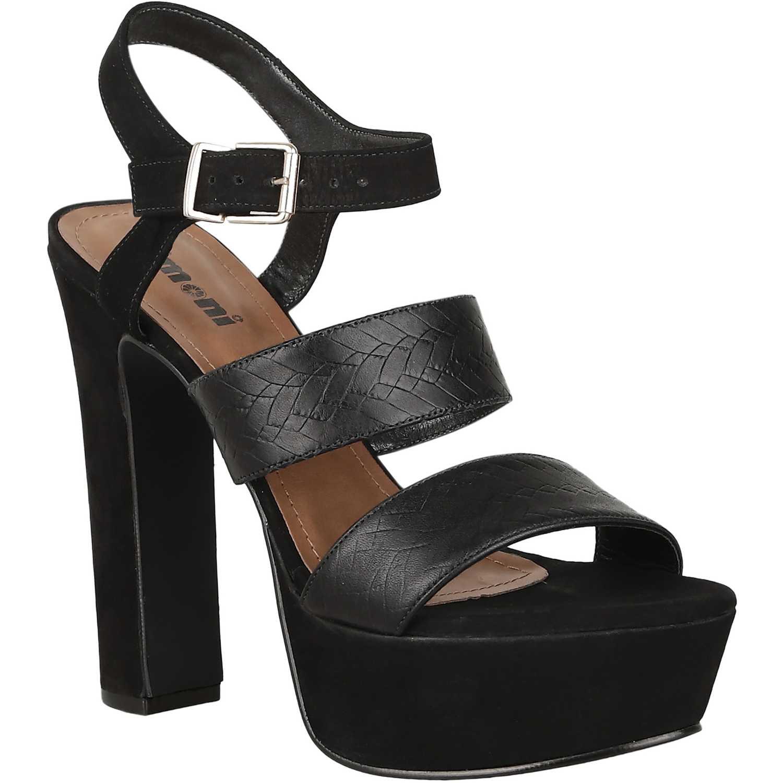 Sandalia Plataforma de Mujer Limoni - Cuero Negro sp 562