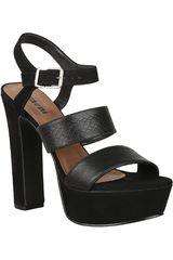 Sandalia Plataforma de Mujer Limoni - Cuero SP 562 Negro