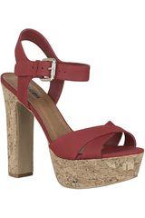 Sandalia Plataforma de Mujer Limoni - Cuero SP 443 Rojo