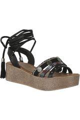 Sandalia Plataforma de Mujer Platanitos SPW 6112 Negro