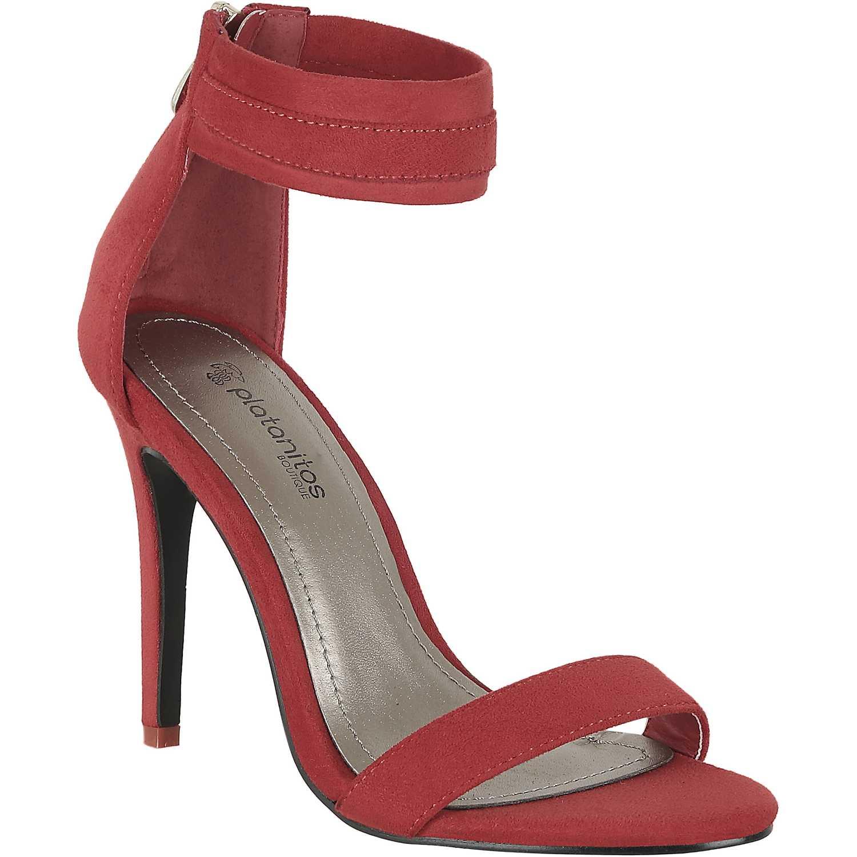 Sandalia de Mujer Platanitos Rojo s 1071