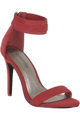 Platanitos Rojo de Mujer modelo S 1071 Sandalias Tacos Casual Calzado
