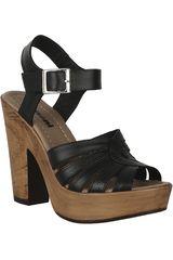 Sandalia Plataforma de Mujer Limoni - Cuero Negro SP LAURA01